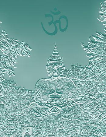 buda: Bouddha sasseyant dans le maintien de la m�ditation