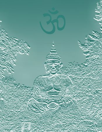 buddha lotus: buddha sitting in the posture of Meditation Stock Photo