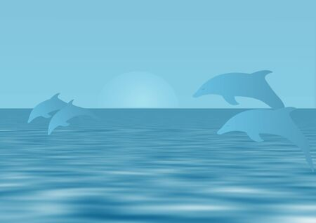 dolphins illustration - computer generated