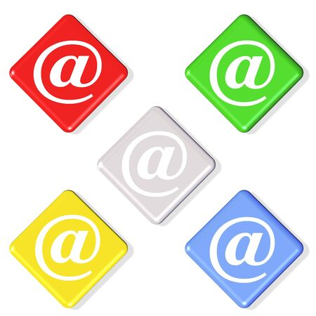 3d email symbol - computer generated photo