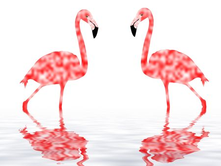 flamingo illustration - computer generated illustration