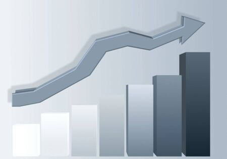 increase chart symbol - computer generated Stock Photo