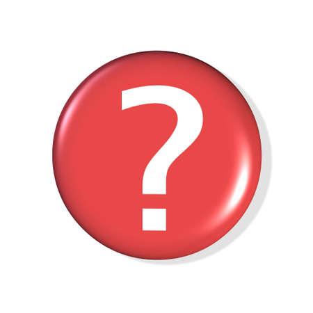 icona del punto interrogativo 3d - calcolatore generato