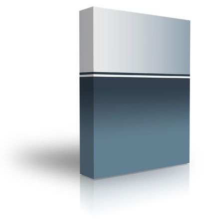 blank box  over white background- computer generated clipart photo