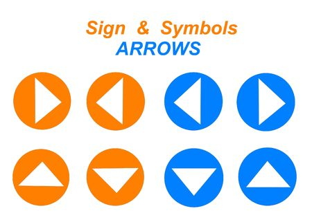 arrow icon sign - computer generated clipart for web design photo