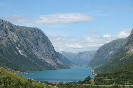 beautiful lanscapes from norwegian fjords  in the summer - europe travel Stock Photo - 981901