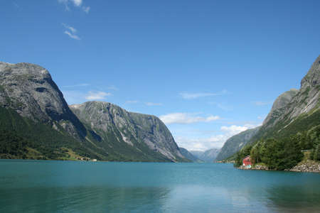 beautiful lanscapes from norwegian fjords  in the summer - europe travel Stock Photo - 981903
