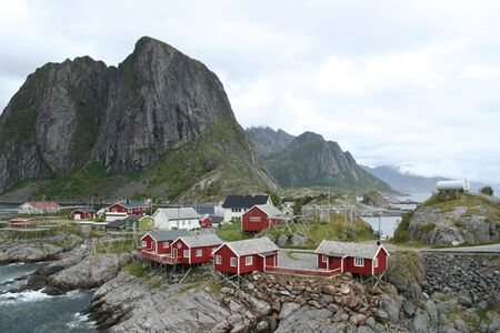 beautiful lanscapes from norwegian fjords  in the summer - europe travel Stock Photo