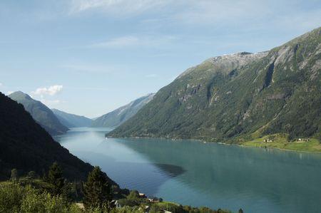 hardanger: beautiful view of the Norwegian fjord - nord europe