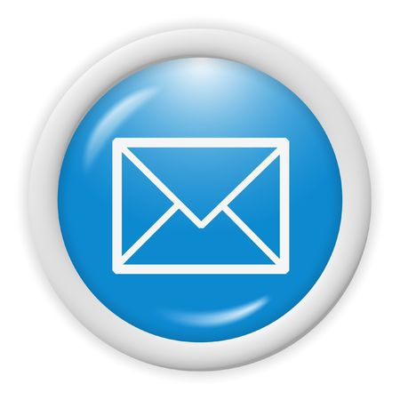 3d blue email icon sign - web design illustration