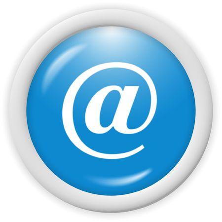 3d blue email icon sign - web design illustration
