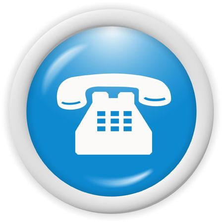 blu 3d icona del telefono cellulare - generato dal computer icona  Archivio Fotografico