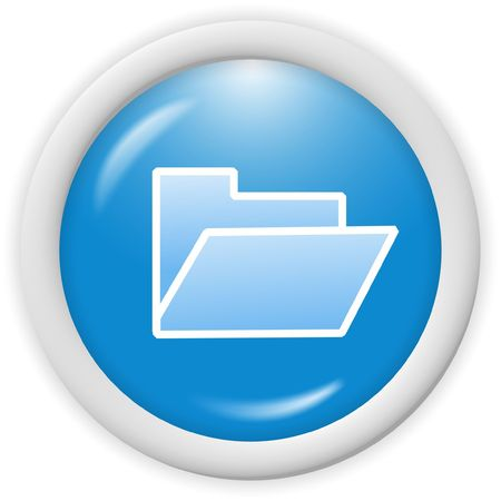 3d blue folder icon - computer generated clipart Stock Photo - 1000059