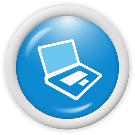 3d computer icon - computer generated clip-art Stock Photo