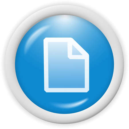 3d blue icon - text file symbol - computer generated clipart