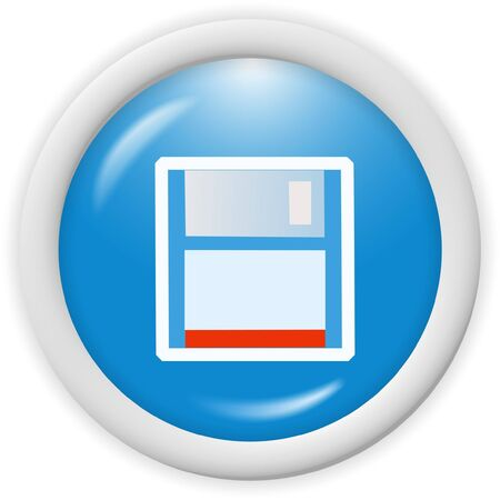 3d floppy disk icon - web design graphic Stock Photo - 1000067