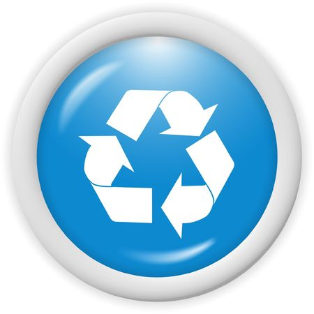 3d recycle icon - computer generated clipart
