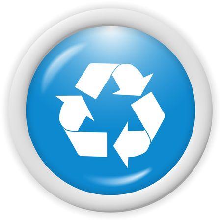 3d riciclare icona - generato dal computer clipart