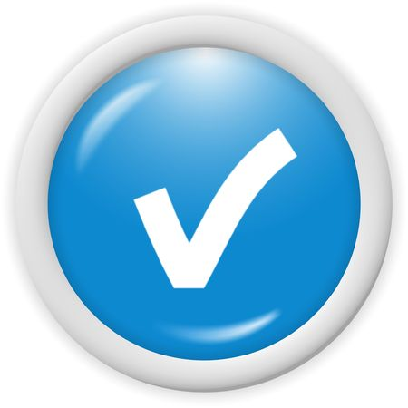 3d blue icon symbol - web design graphic