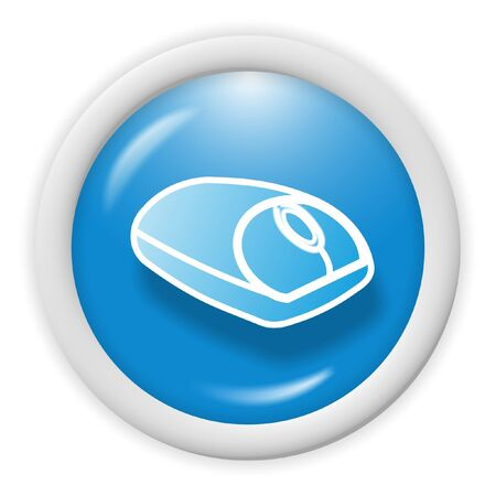 3d blue icon symbol - web design graphics Stock Photo