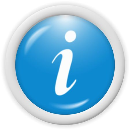 3d blue icon symbol - web design graphics Stock Photo