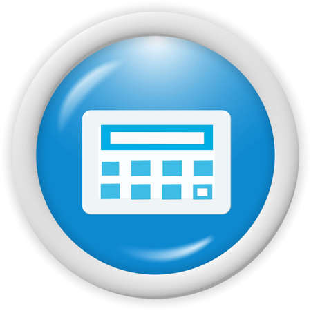 3d blue icon symbol - web design graphics Stock Photo - 1000079