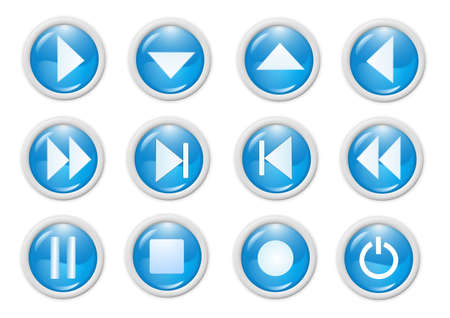 3d blue icon symbol - web design graphics Banco de Imagens