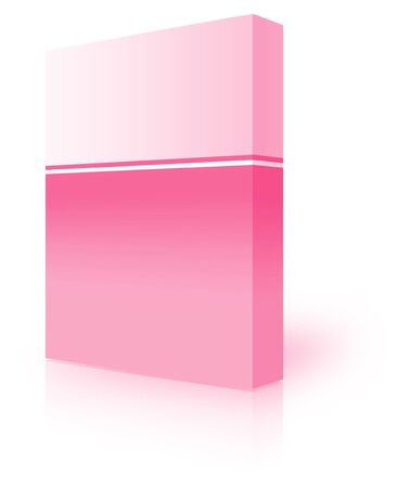 ebox: blank box  over white background- computer generated clipart Stock Photo