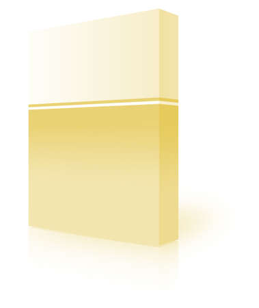 blank box  over white background- computer generated clipart Stock Photo