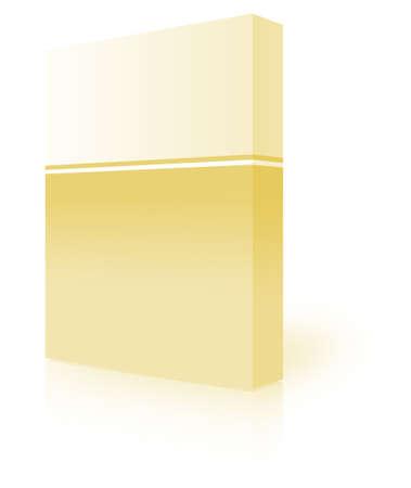 ebox: casella vuota su sfondo bianco-generato dal computer clipart