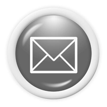 3d email icon sign - web design illustration