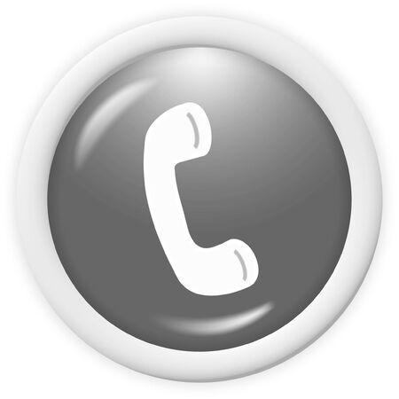 phone button: 3d telefoonpictogram - computer gegenereerde pictogram Stockfoto
