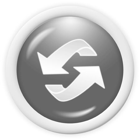 3d recycle icon - computer generated clipart photo