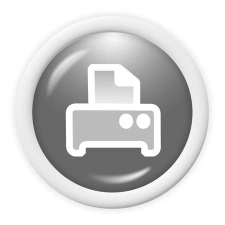 3d printer icon - computer generated clipart Stock Photo - 1304531