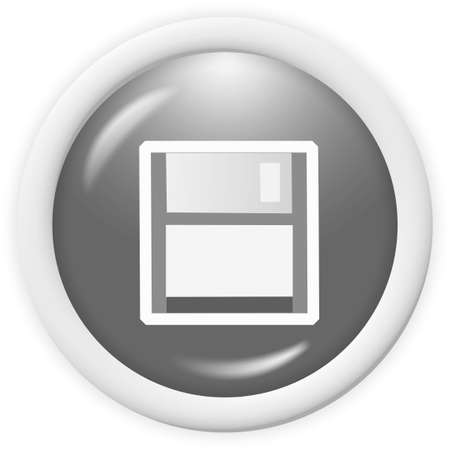 3d floppy disk icon - web design graphic Stock Photo - 1304534