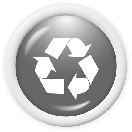 3d recycle icon - computer generated clipart Stock Photo - 1304535
