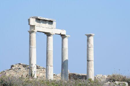 antica grecia: colonne di marmo di antica Grecia - europa viaggio
