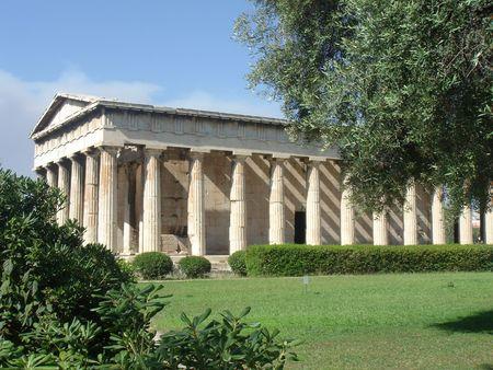 antica grecia: Agora antico tempio Grecia - Athene, Grecia, Europa di viaggio