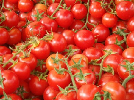 bunch of  fresh tomatoes - healthy  and organic vegetable food                       Stock Photo - 2060032