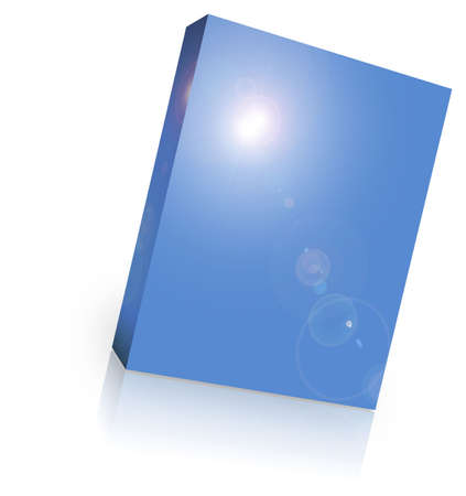 ebox: blank box over white background- computer generated clipart
