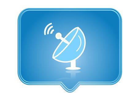 sattelite: icon, button, illustration - web page design symbols and signs
