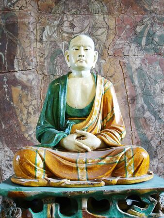 buddha sitting in the posture of Meditation Stock Photo