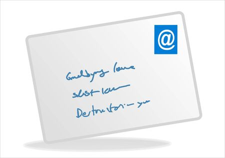 email icon button over white background - business series