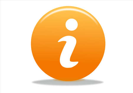 info symbol icon design - orange series Stock Photo