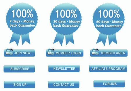 web design e pulsanti icona impostare