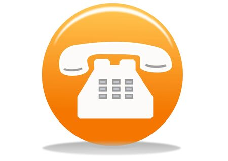 orange phone web icon - web design buttons