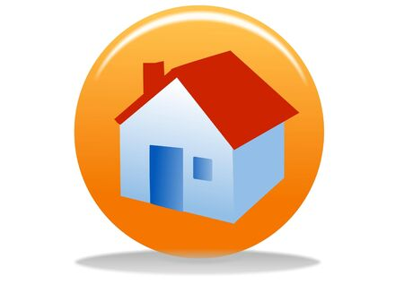 orange home web icon - web design buttons Stock Photo - 4302681