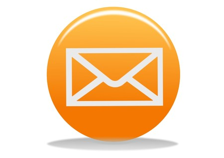 orange email web icon - web design buttons Stock Photo - 4302678