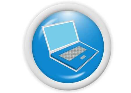 3d blue web icon - computer generated illustration Stock Illustration - 4302693