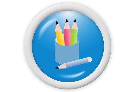 3d blue web icon - computer generated illustration Stock Illustration - 4302689